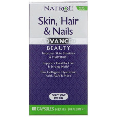 Витамины комплекс, Skin Hair Nails, Natrol, (60 капс)